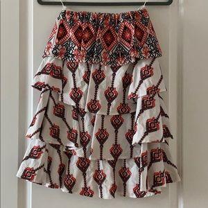 Caroline Constans ruffle strapless mini dress